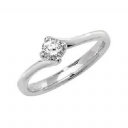 Platinum 0.2ct Solitaire Diamond Ring Four Claw twist syle mount